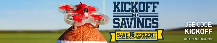 "Save 15% on Select R/C Models and Gear During AMain Hobbies ""Kickoff to Savings"" Event"