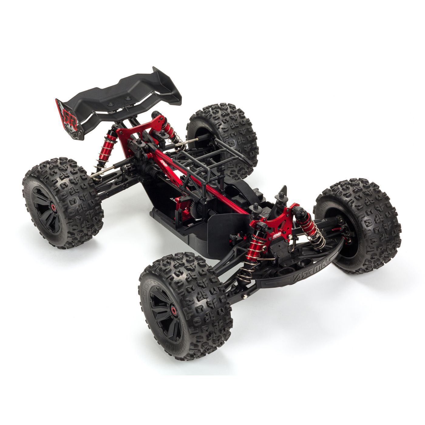 ARRMA Kraton EXB Extreme Bash Roller Monster Truck - Chassis Front