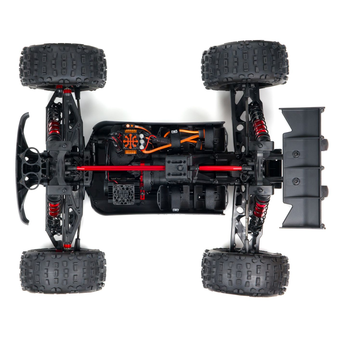ARRMA Outcast Fifth-scale 8S Stunt Truck - Chassis Top
