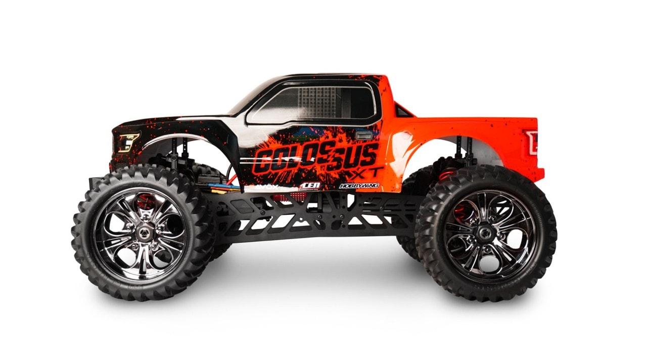 radio controlled monster truck with Cen Racings Supersized Colossus Xt Monster Truck on Pictures videos likewise Terrier Tank Swiss Army Knife Of  bat Vehicles additionally G 24922 model Revell Rc revell radio controlled dump truck also Watch further 339724.