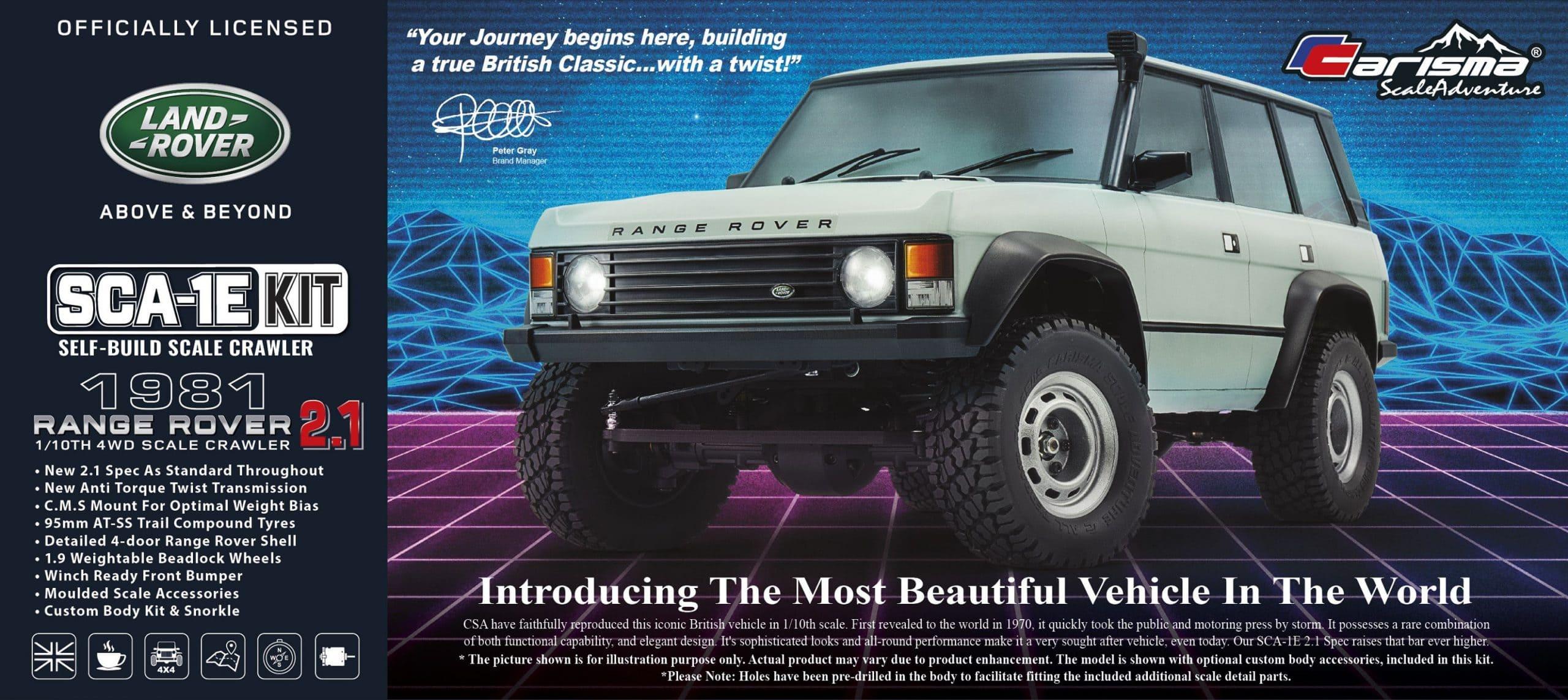 Carisma Scale Adventure Launches a Rockin' New SCA-1E 2.1 Range Rover Kit