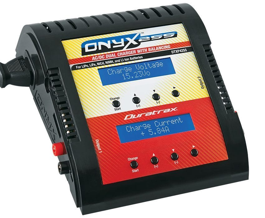 Refuel Your R/C with the Duratrax Onyx 255 AC/DC Dual Balancing Charger