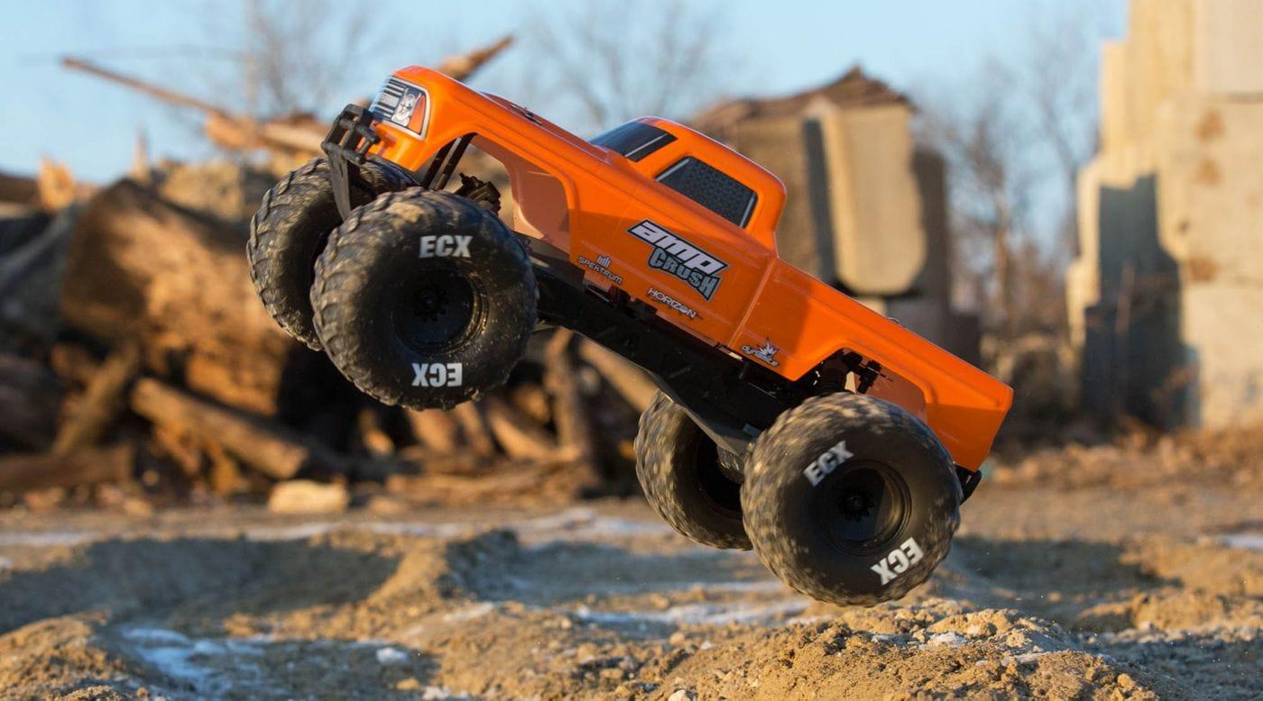 ECX Amp Crush 2WD Monster Truck - Orange Jump