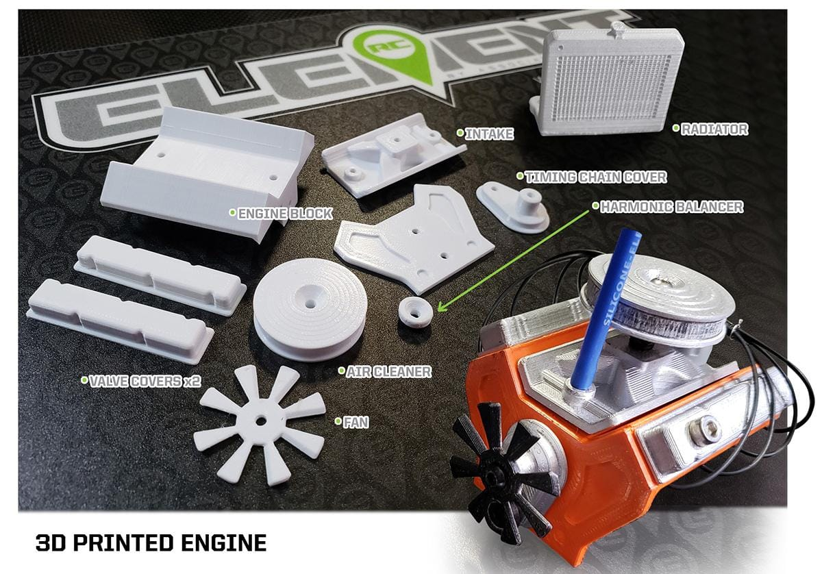 Element RC Releases Files for a 3D Printable Engine for your Enduro Trail Truck