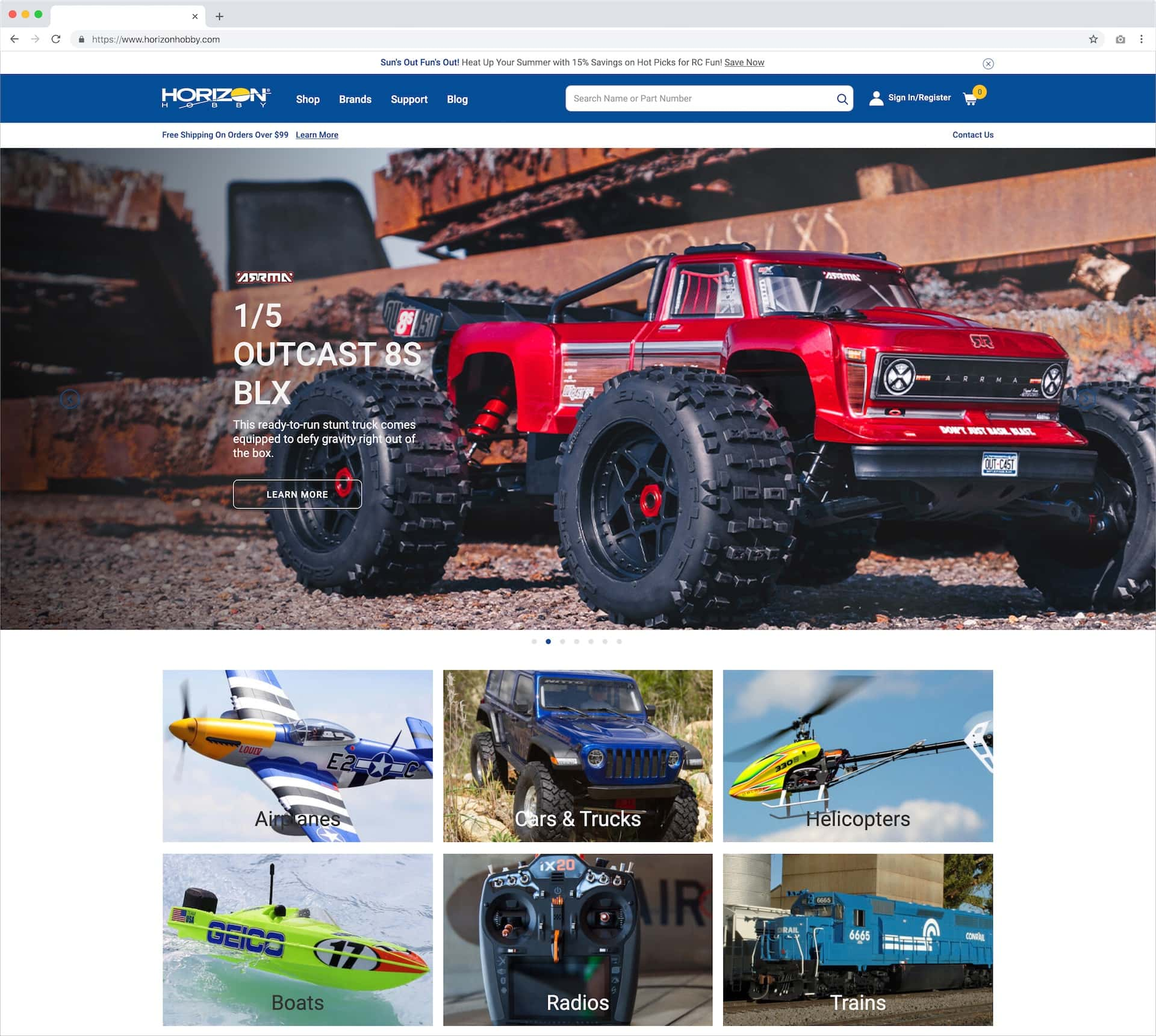 Horizon Hobby Debuts a Fresh Look for their Website