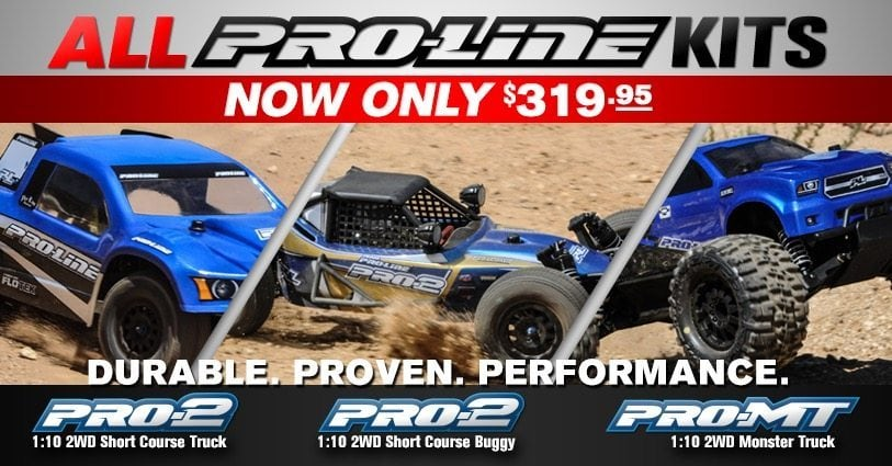 Time to build! Pro-Line lowers the price on their kits