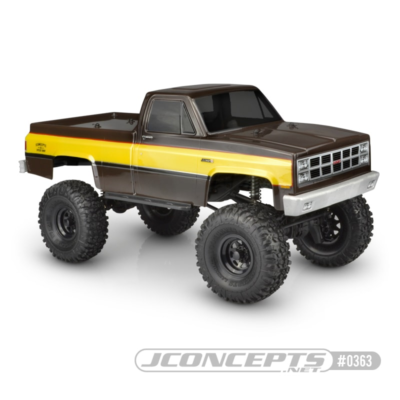 "JConcepts 1982 GMC K10 Body for the 12.3"" Wheelbase R/C Crawlers"