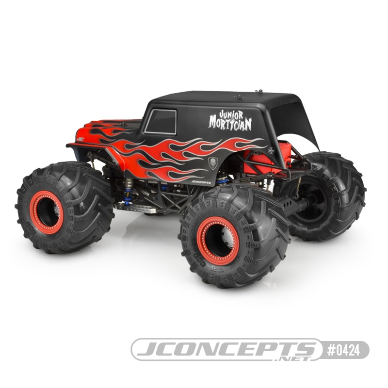 JConcepts JCI Junior Mortician RC Monster Truck Body - Rear