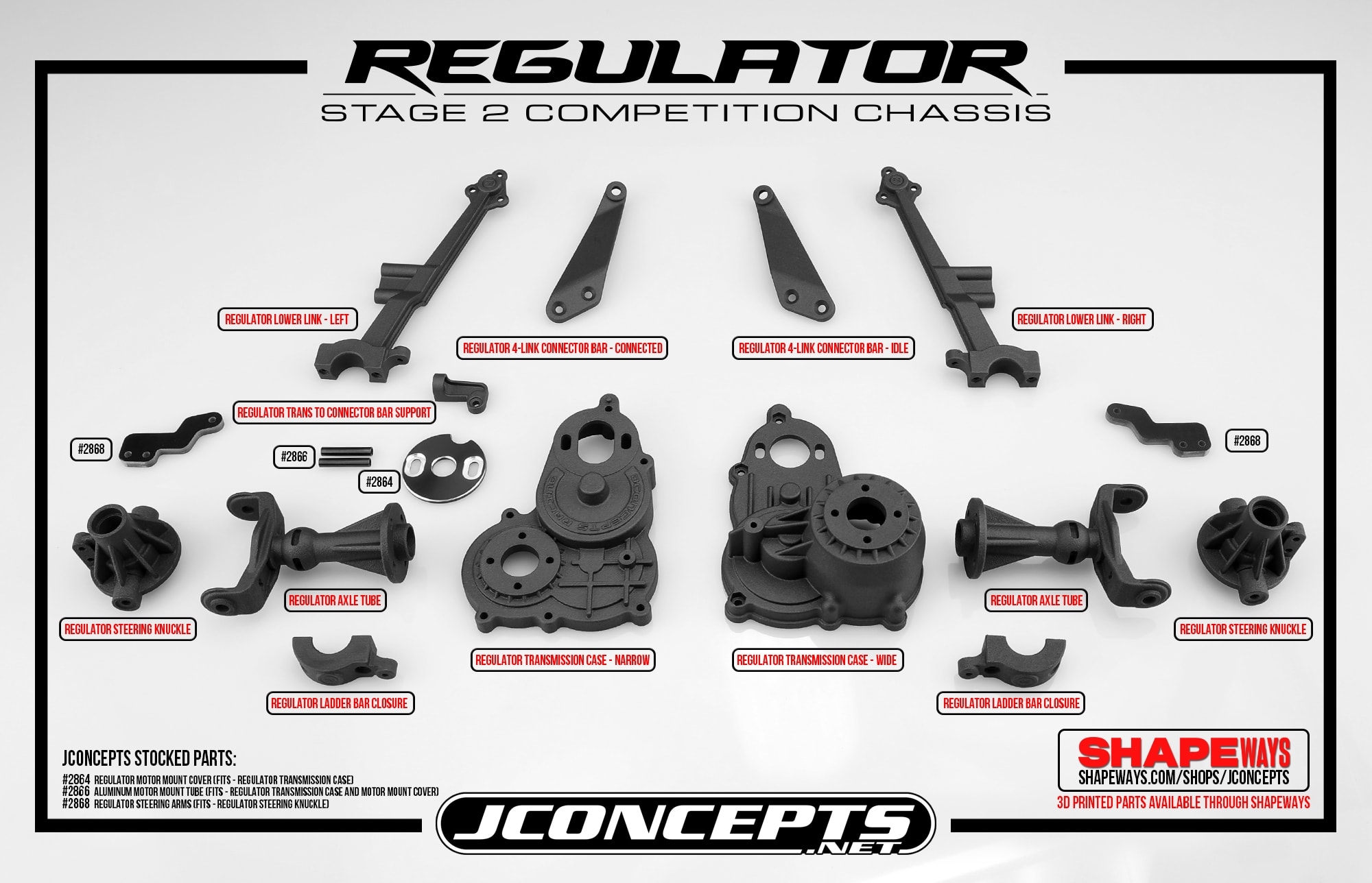 JConcepts Releases Option Parts for the Regulator Monster Truck Conversion Kit