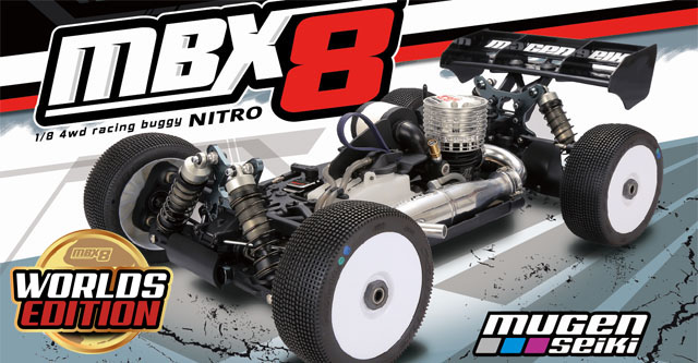 Mugen Seiki Announces the World's Edition MBX8 Nitro Buggy Kit