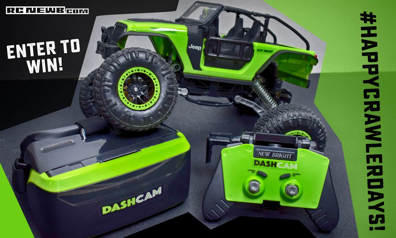 #HappyCrawlerdays: Enter to win a New Bright DashCam Jeep Trailcat R/C Crawler!
