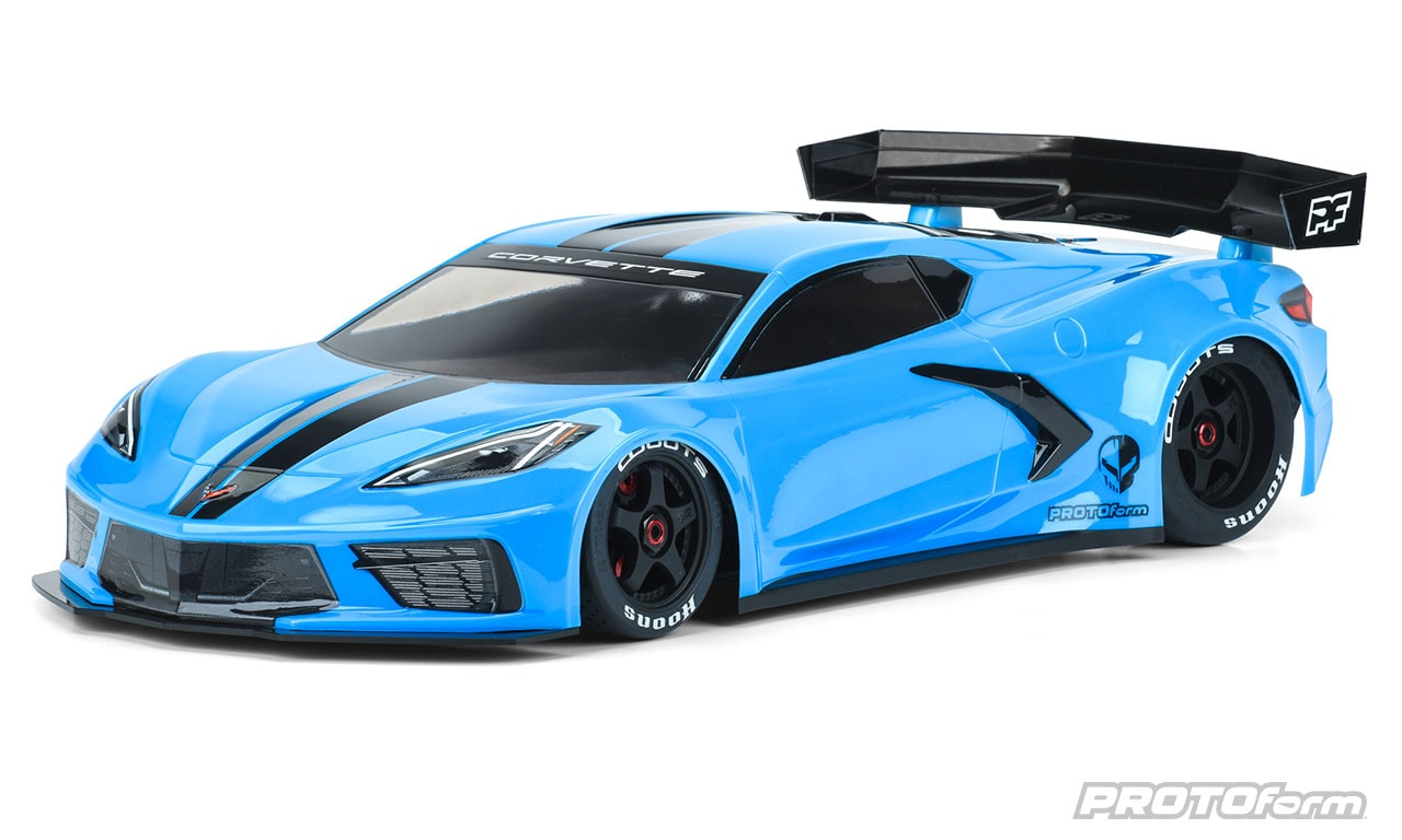 PROTOform Chevrolet Corvette C8 Clear Body for the ARRMA Felony & Infraction
