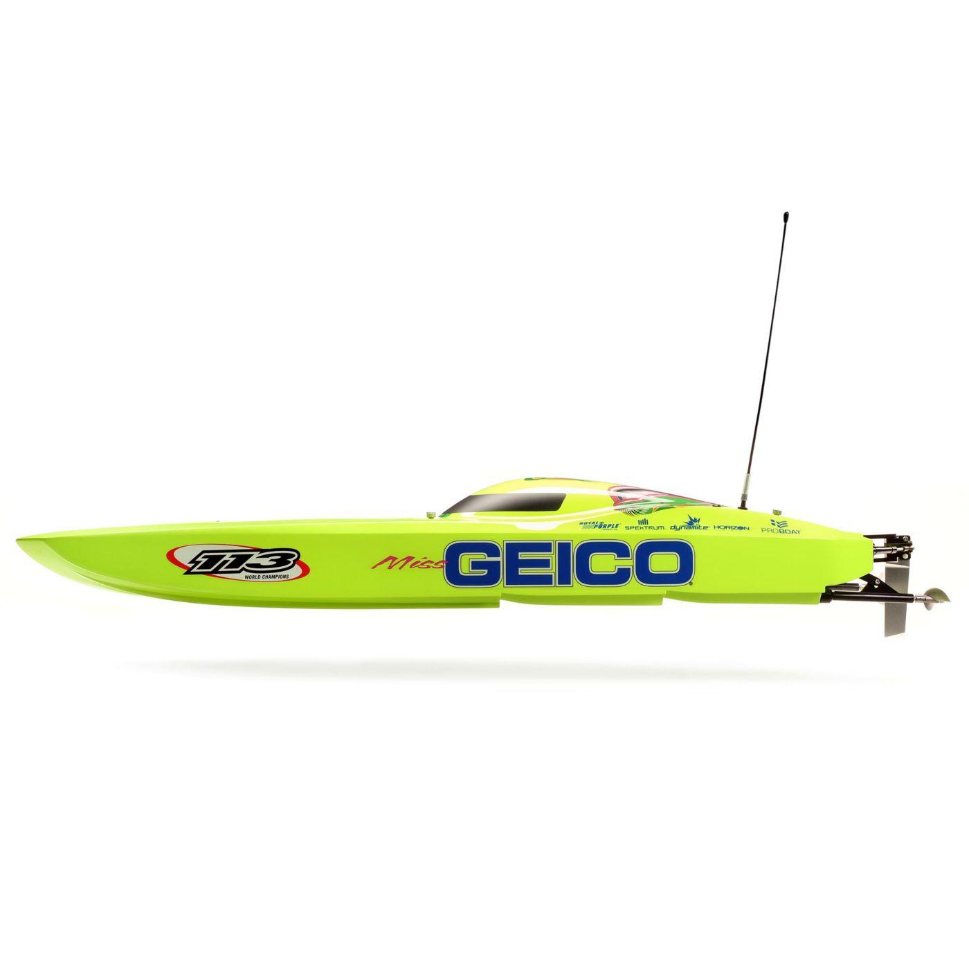Pro Boat Mis Geico Twin Zelos - Side