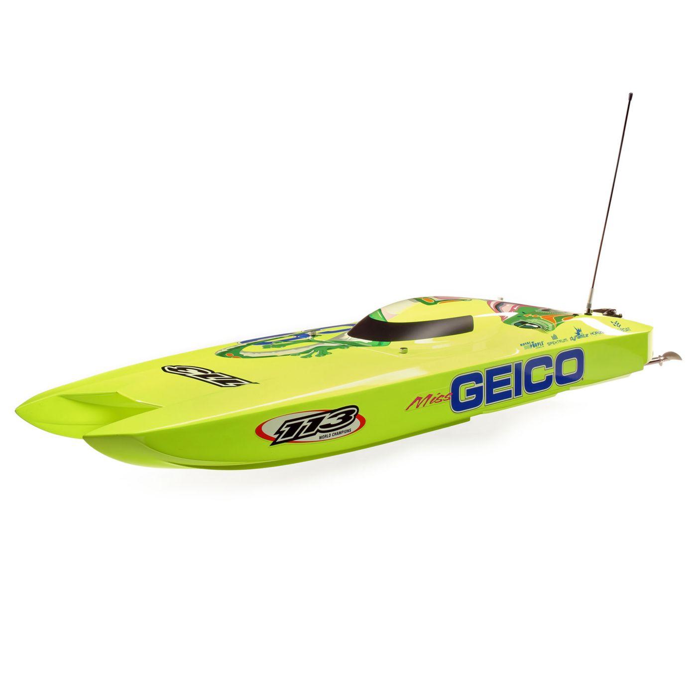 Summertime Fun: Pro Boat Miss Geico Zelos 36″ Brushless Twin Catamaran
