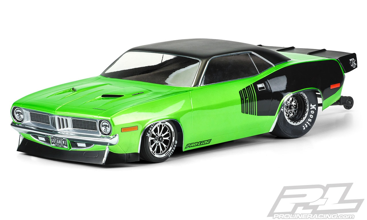 Hit the Strip with Pro-Line's 1972 Plymouth 'Cuda Dragster Body