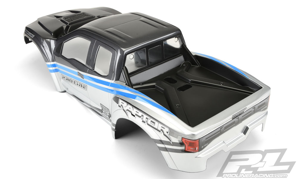 Pro-Line 2017 Ford F-150 Raptor Pre-painted and Pre-cut X-Maxx Body - Rear