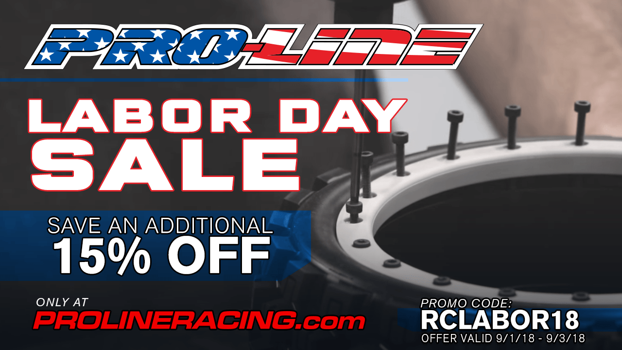 Score Additional Savings (15% Off) During Pro-Line's Labor Day Sale