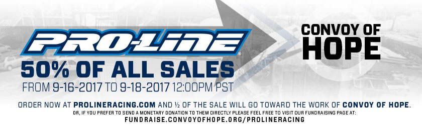 Pro-Line Convoy of Hope Relief Donation