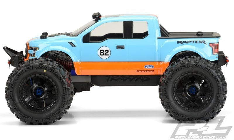 Pro-Line Ford F150 Raptor RC Monster Truck Body (Side)