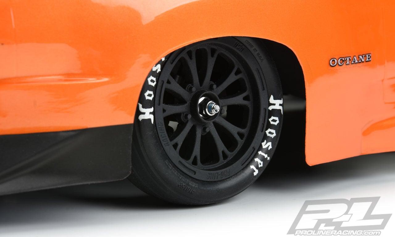 Pro-Line Hoosier Drag Racing Slicks - Front Installed