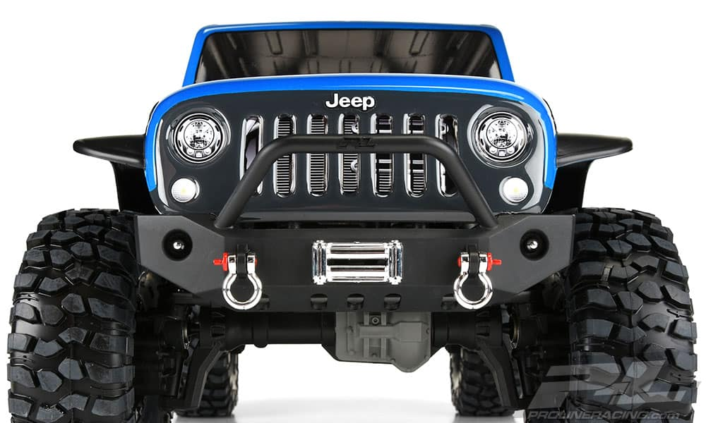 Pro-Line Jeep Wrangler Unlimited Rubicon Body for the Traxxas TRX-4 - Front