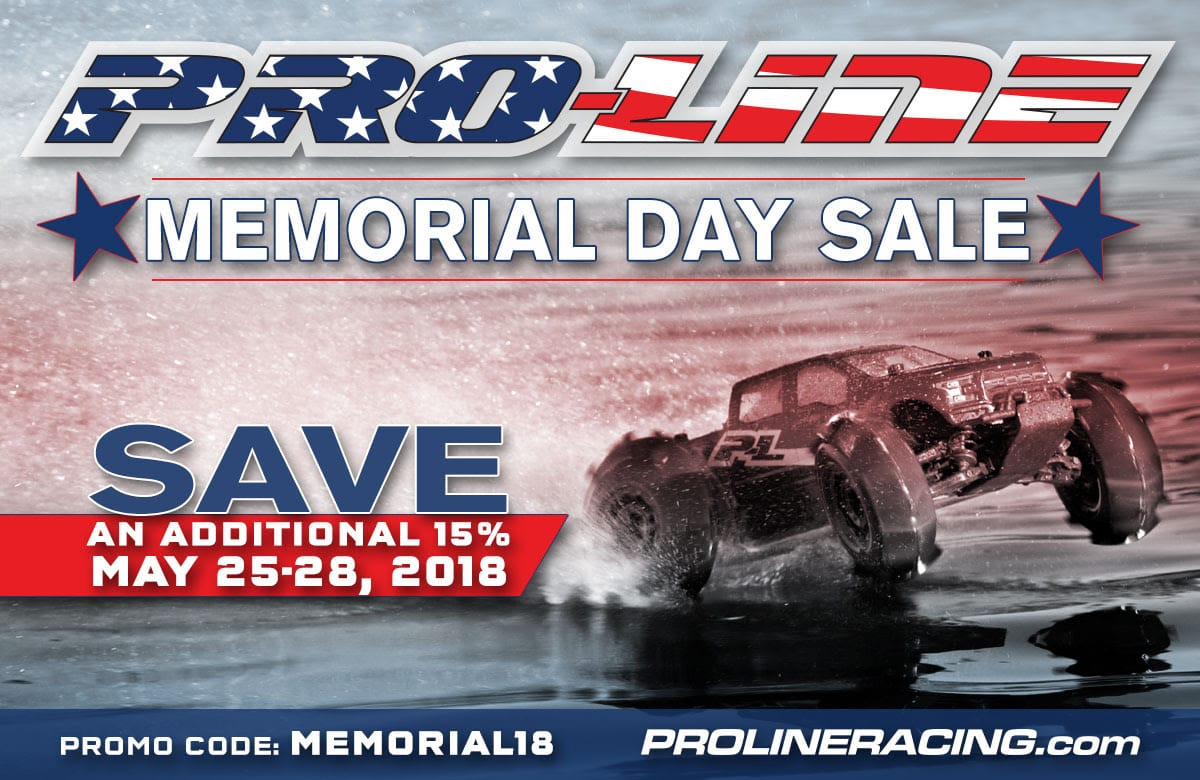 15% Savings During Pro-Line's Memorial Day Sale