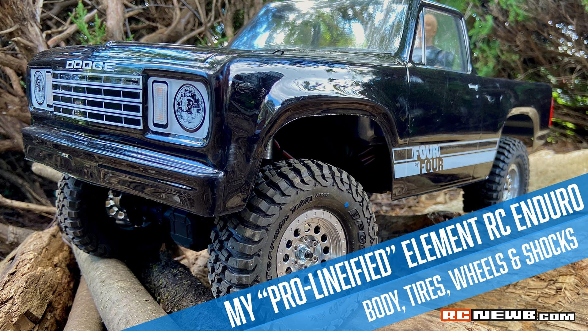 "An Elemental Overhaul: My ""Pro-Lineified"" Element RC Enduro Sendero RTR [Video]"