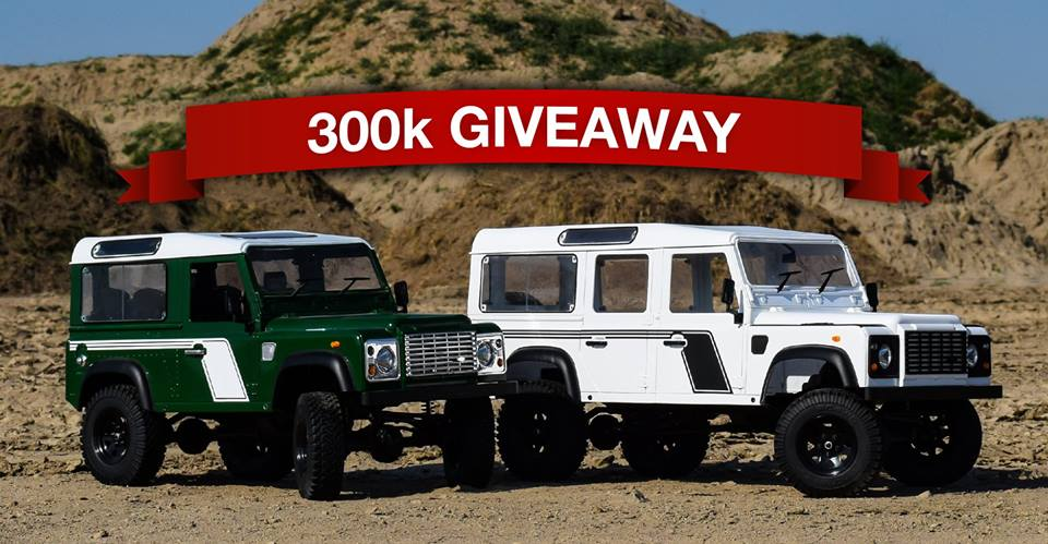 "Enter to Win RC4WD's ""300K Like Giveaway"""