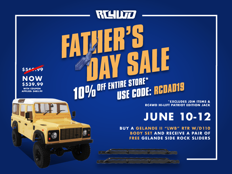 Deals-a-Plenty During the RC4WD Father's Day Sale