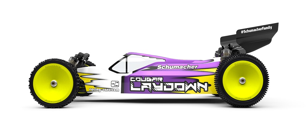 Schumacher Cougar Laydown Buggy - Side