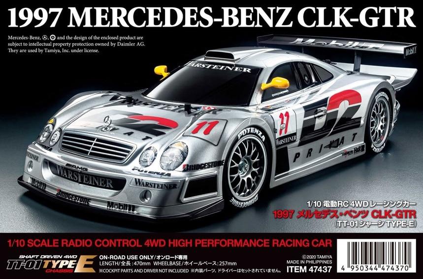 Tamiya 1997 Mercedes-Benz TT01E Kit - Box Art