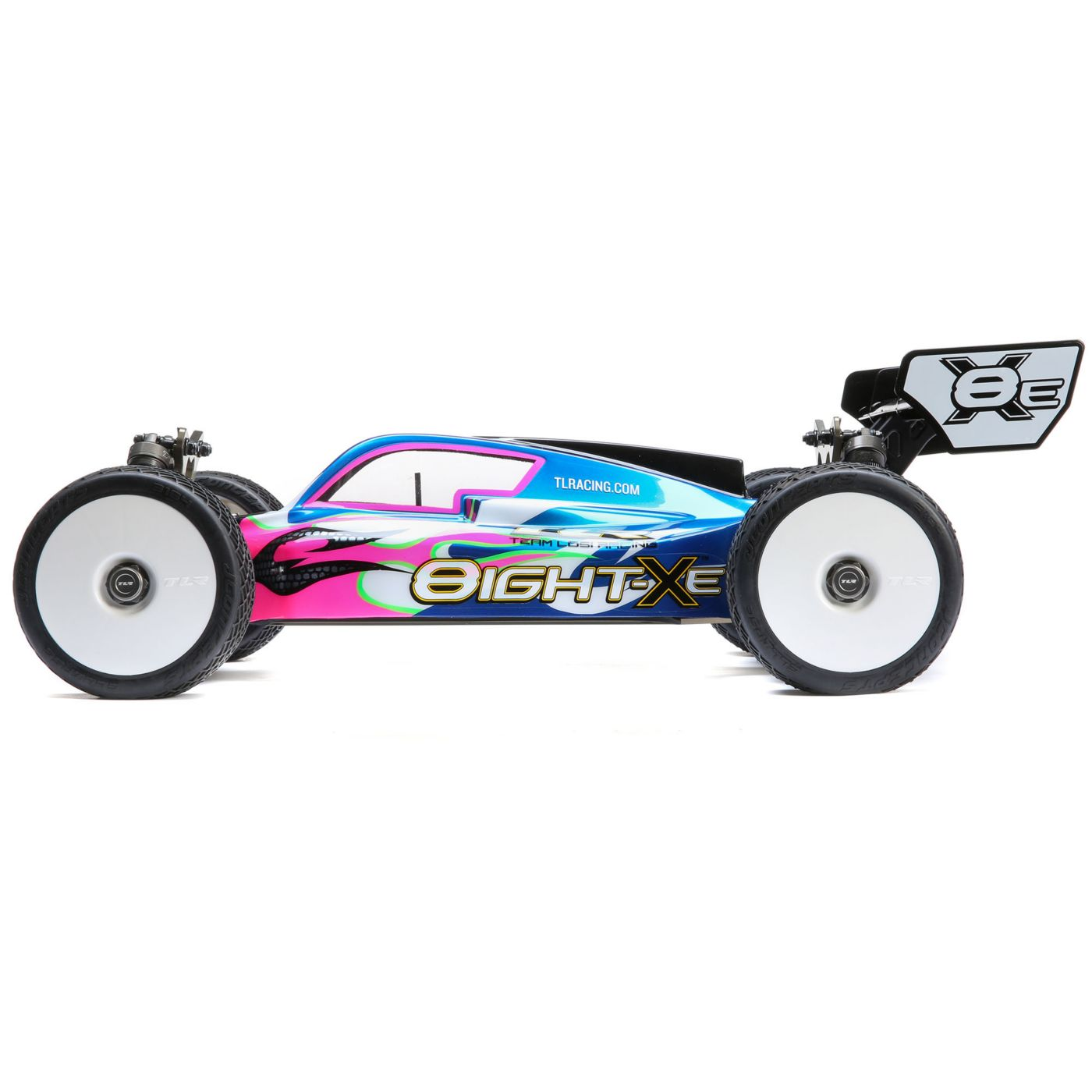 Team Losi Racing 8IGHT-XE Electric Buggy Kit - Side