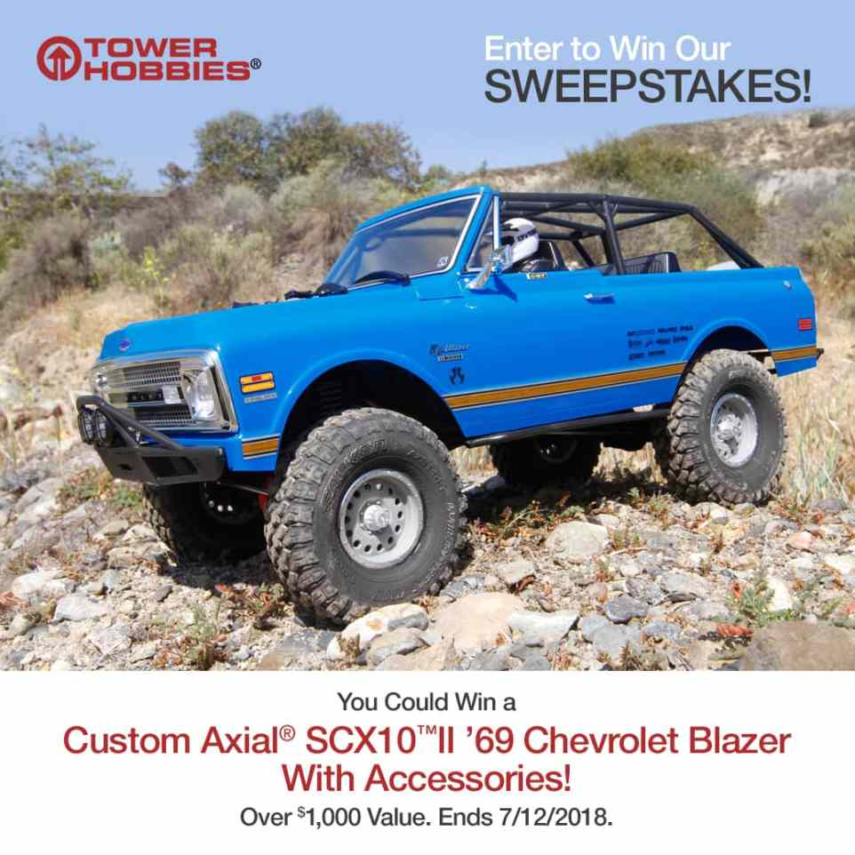 Enter to Win a Customized Axial SCX10 II '69 Chevy Blazer