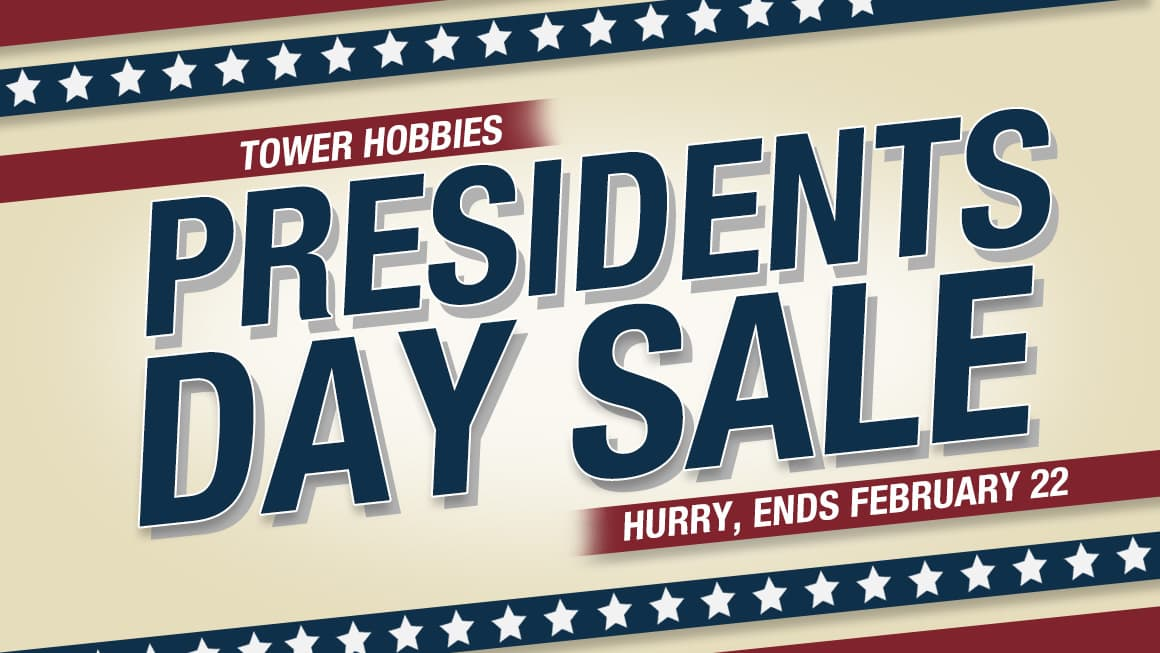 Tower Hobbies Presidents Day Sale