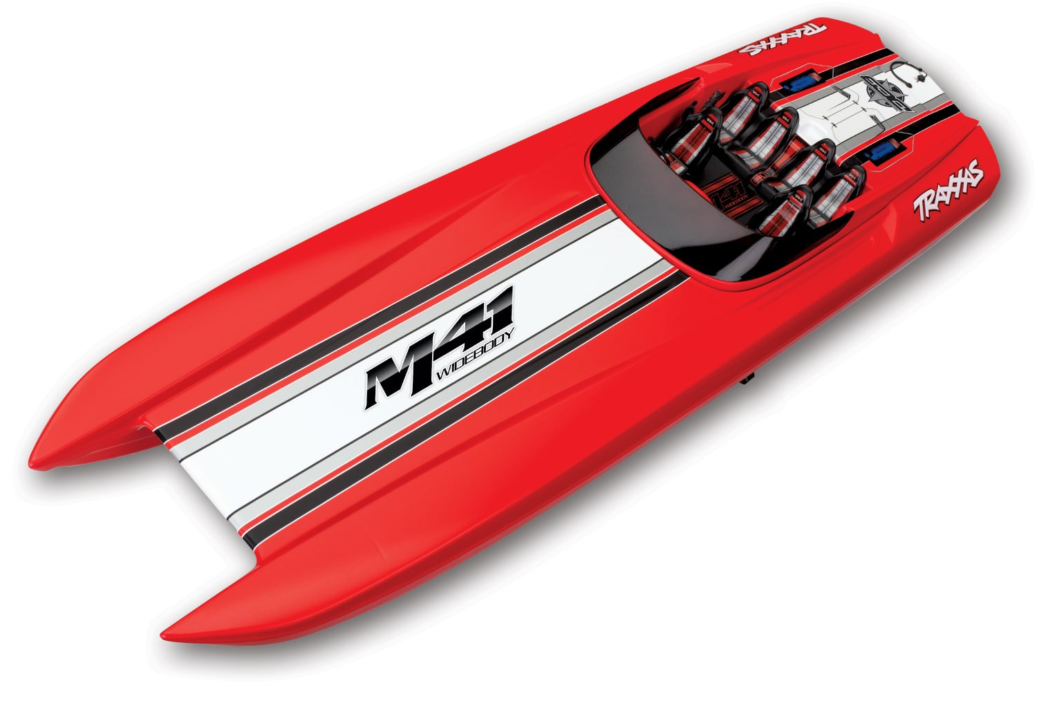 "Traxxas M41 Widebody Catamaran ""Red Edition"" R/C Speedboat"