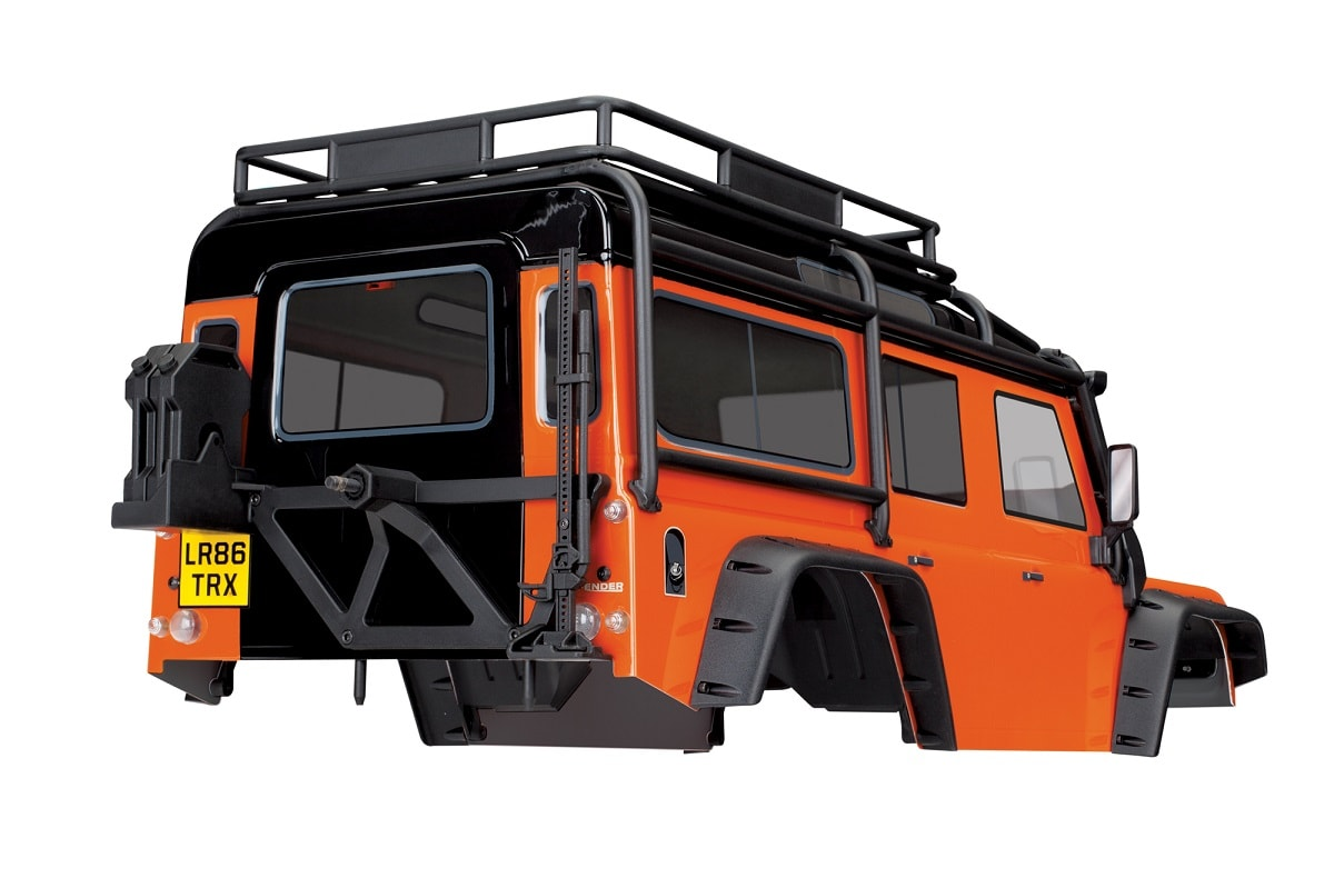 Traxxas TRX-4 Land Rover Defender Body - Adventure Orange - Rear