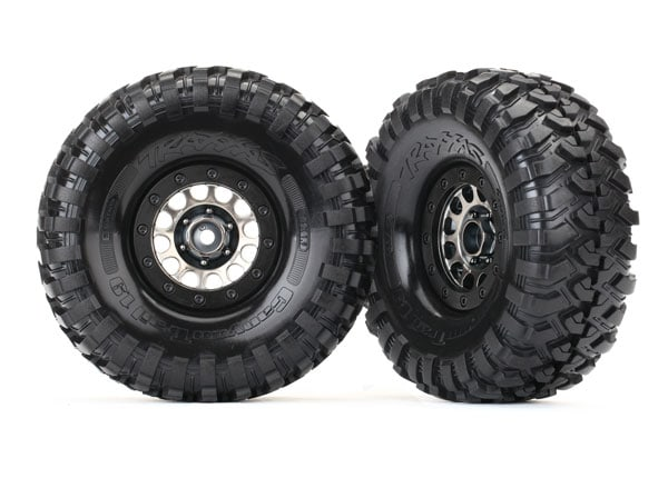 Traxxas TRX-4 Pre-mounted Method Black Chrome Beadlock Wheels and Tires