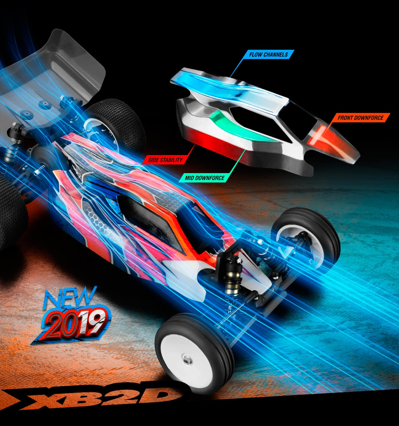 XRay XB2D-19 Competition RC Buggy - Body