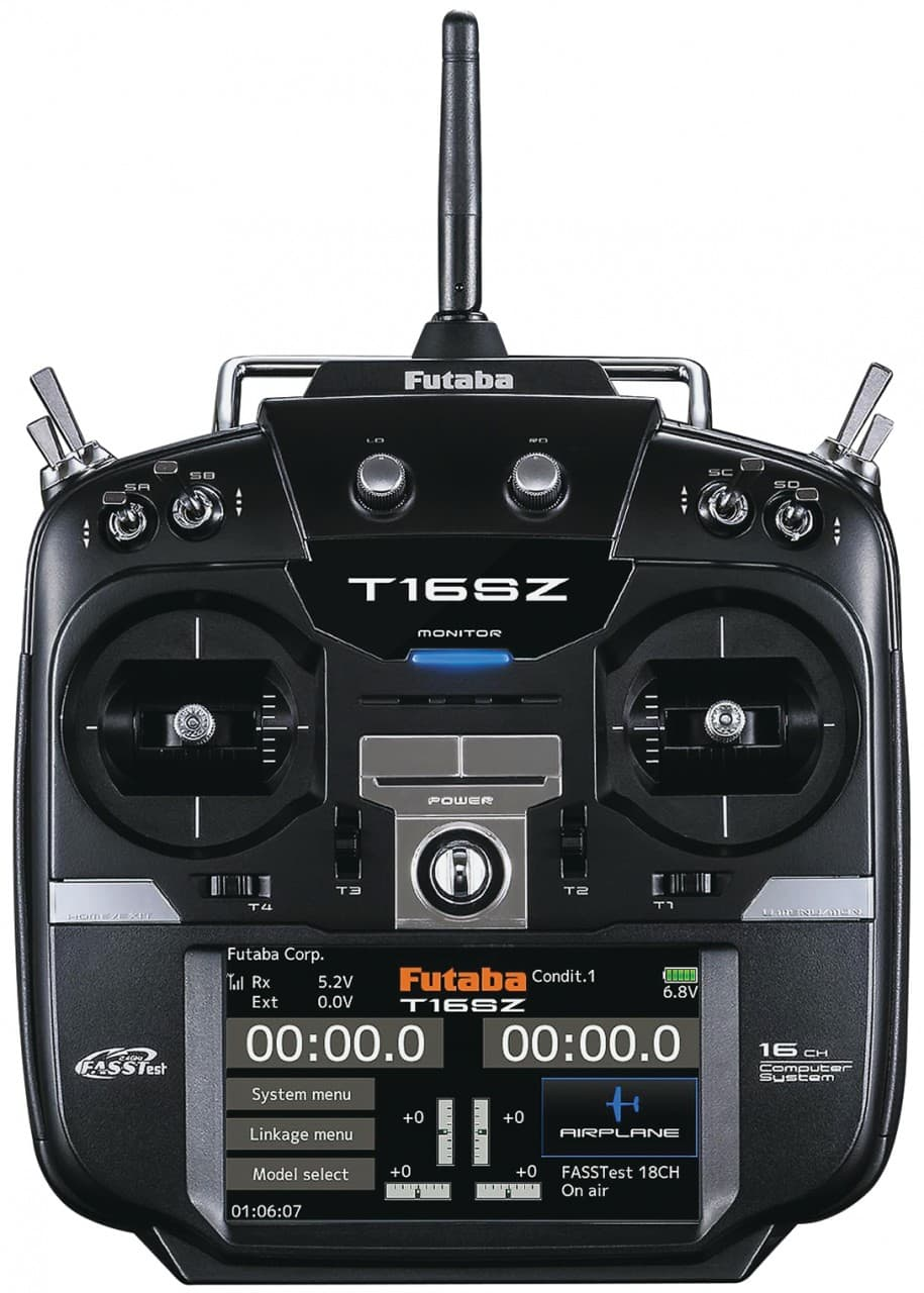 Futaba's 16SZ 16-Channel Radio for R/C Planes, Helis & Quadcopters
