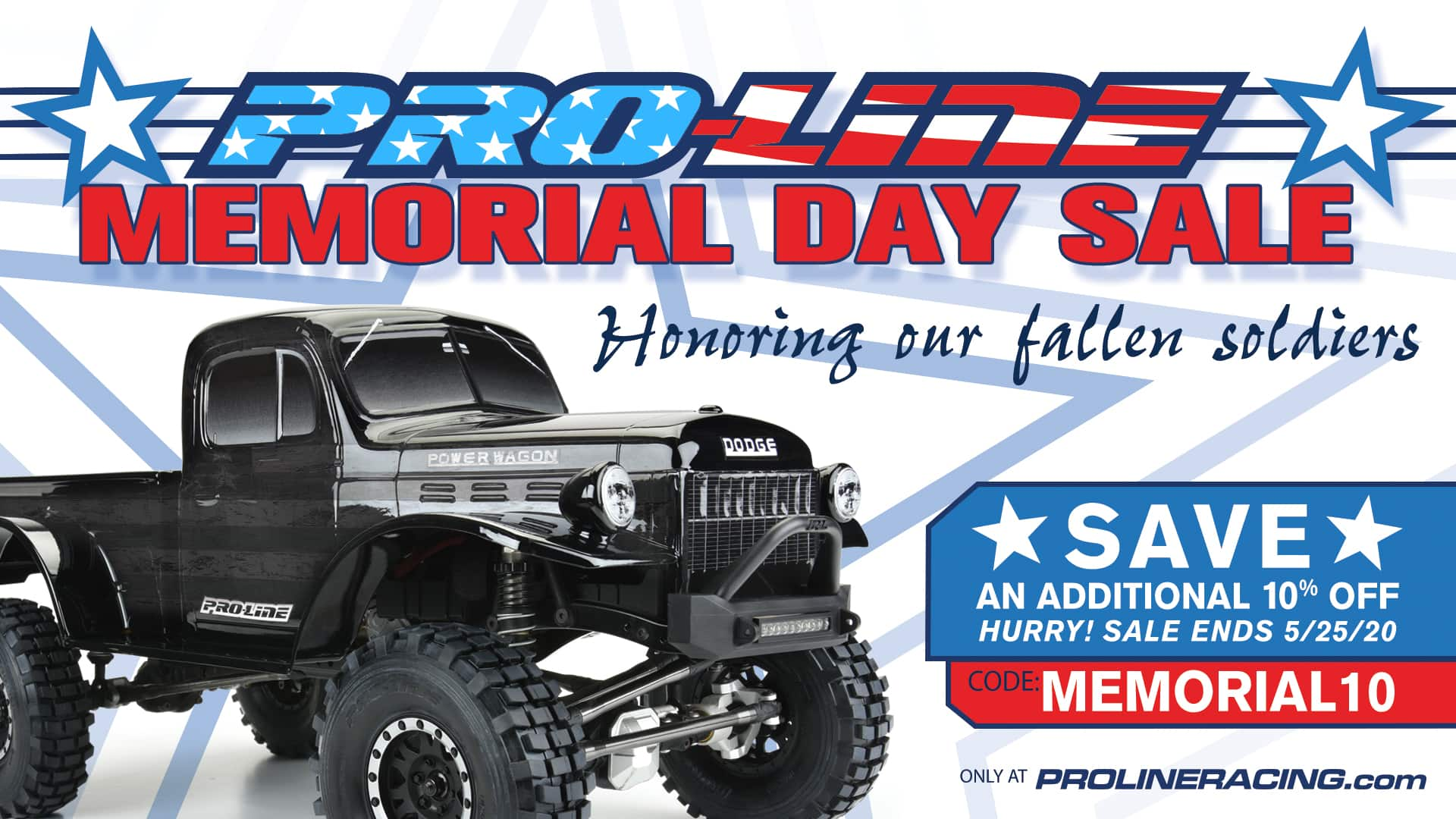Save an Additional 10% During Pro-Line's Memorial Day Sale