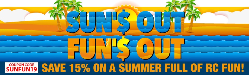 """Enjoy """"Sun's Out, Fun's Out"""" Savings from Horizon Hobby"""