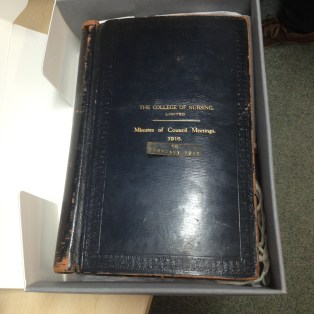 RCN Council Minutes from 1916. Featuring stars such as Sarah Swift herself!
