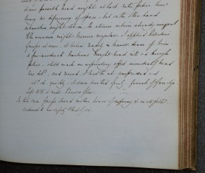 A page from Barnes' Case Book (archive reference S60/C). This page describes a delivery using forceps. The final paragraph reads: 'In this case forceps saved mother hours of suffering and in all probability conduced to her safety and that of child.' (image 2 of 2)