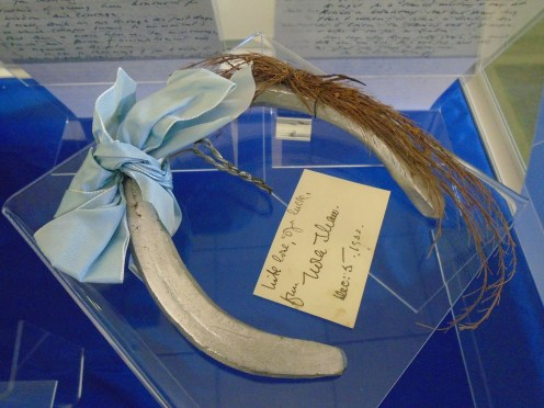 Blair-Bell's lucky horseshoe, given to him by Nora Shaw