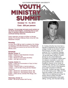 Youth Ministry Summit 2014