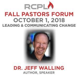 Pastor's Forum Fall - Register Now