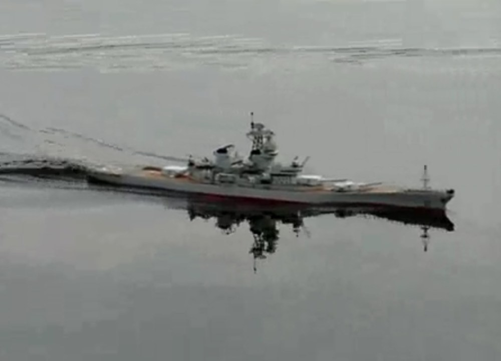 medium resolution of huge radio control rc uss new jersey bb 62 battleship ship ready to run rtr 54 inches long