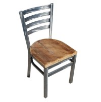 Industrial Ladderback Chair... Reclaimed Wood Seat ...