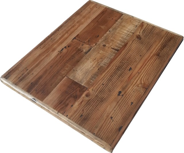 Reclaimed Wood Table Top Straight Plank