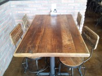 Reclaimed Wood Table Top Straight Planks - RC Supplies Online